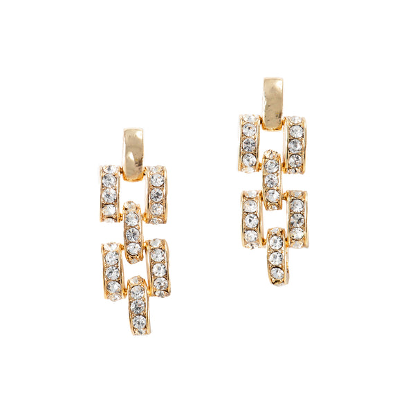 CHAIN GAME CLASSIC EARRINGS (GOLD)
