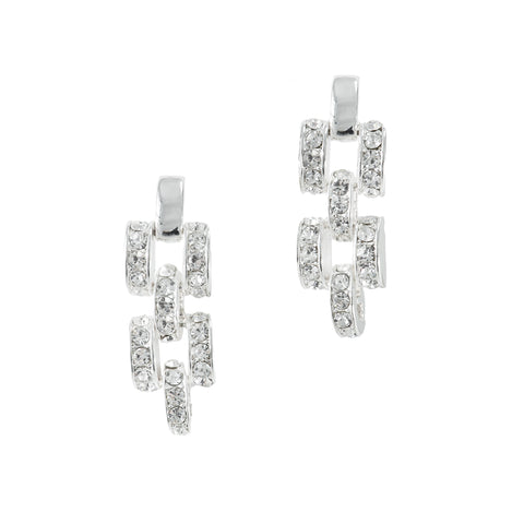 CHAIN GAME CLASSIC EARRINGS (SILVER)