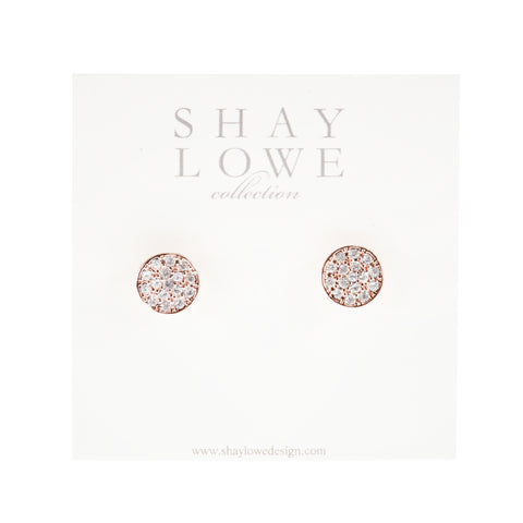 CLASSIC ROSE STATEMENT STUDS