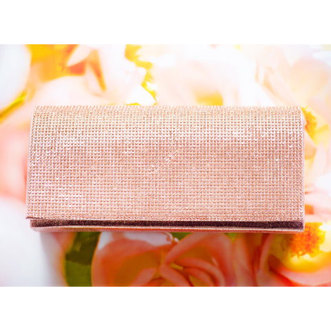 ROSE GOLD GLAM CLUTCH