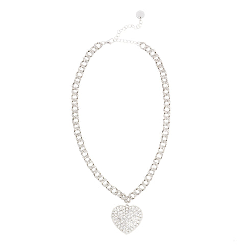 ALL HEART STATEMENT NECKLACE (SILVER)
