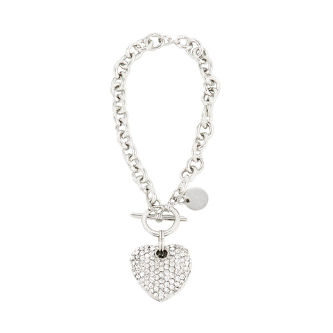 ALL HEART STATEMENT BRACELET (SILVER)