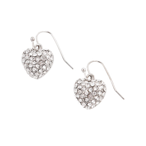 HEART OF HEARTS STATEMENT EARRINGS (SILVER)