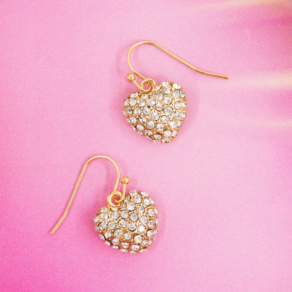 HEART OF HEARTS STATEMENT EARRINGS (GOLD)