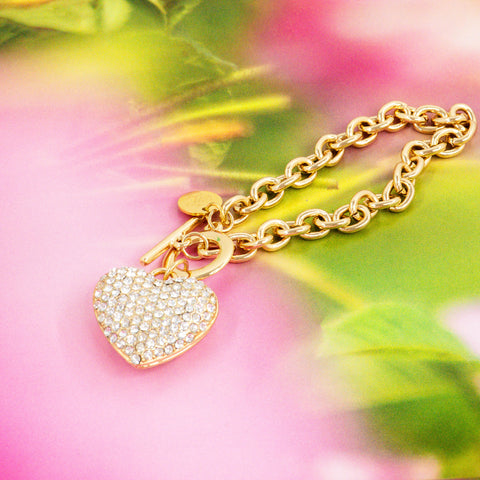 ALL HEART STATEMENT BRACELET (GOLD)