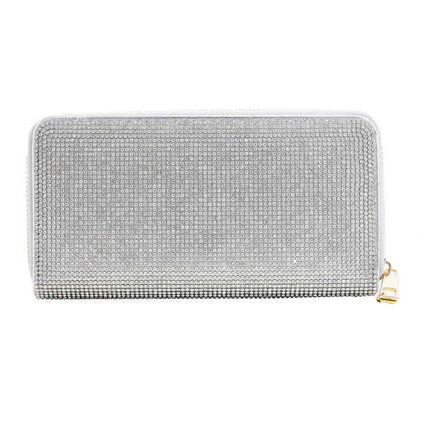 ABOUT TOWN CRYSTAL WALLET (SILVER)