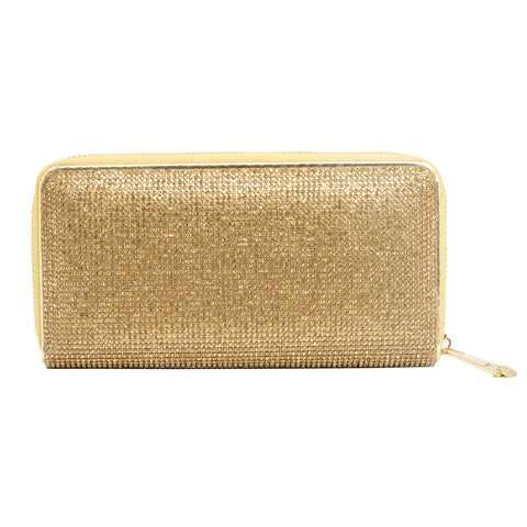 ABOUT TOWN CRYSTAL WALLET (GOLD)