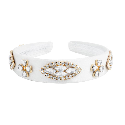 CROWNED IN WHITE CRYSTAL HEADBAND