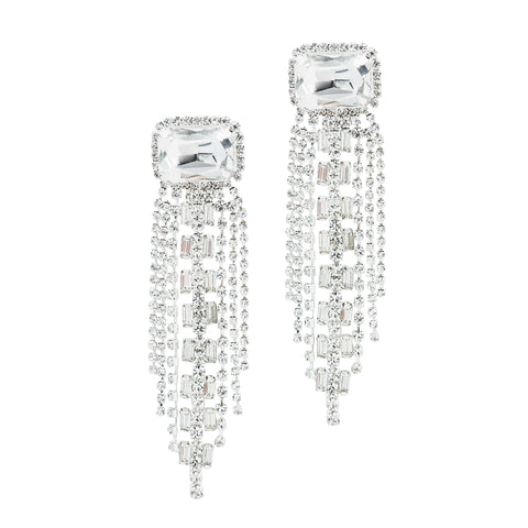 HIGH HOLIDAY STATEMENT EARRINGS (SILVER)