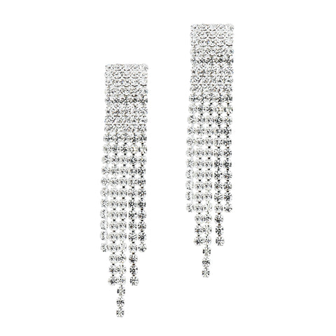VIVACIOUS VINTATE STATEMENT EARRINGS (SILVER)