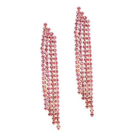 PINK PARTY DAZZLE STATEMENT EARRINGS