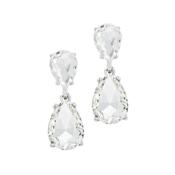 ROYAL GLAMOUR STATEMENT EARRINGS (SILVER)