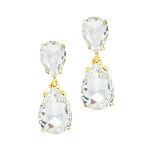ROYAL GLAMOUR STATEMENT EARRINGS (GOLD)