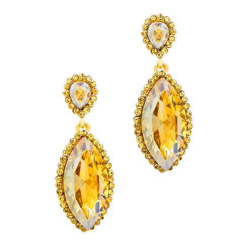 MARVELOUS MARQUIS STATEMENT EARRINGS (TOPAZ)