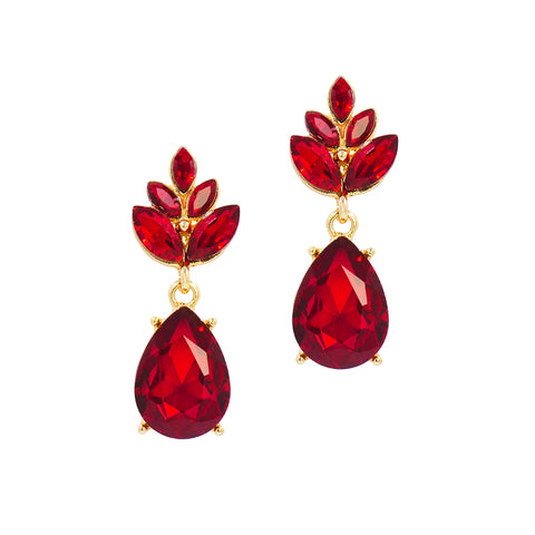 FANCY & FIERCE STATEMENT EARRINGS (RED)
