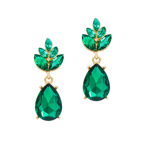FANCY & FIERCE STATEMENT EARRINGS (EMERALD)