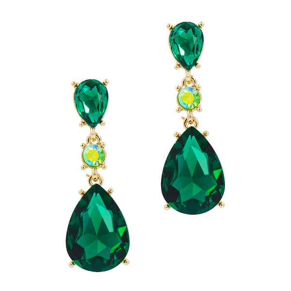 EMERALD EVOLUTION STATEMENT EARRINGS