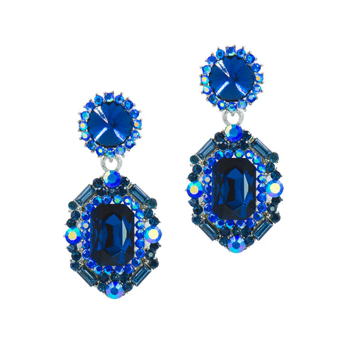 GALA BLUE STATEMENT EARRINGS