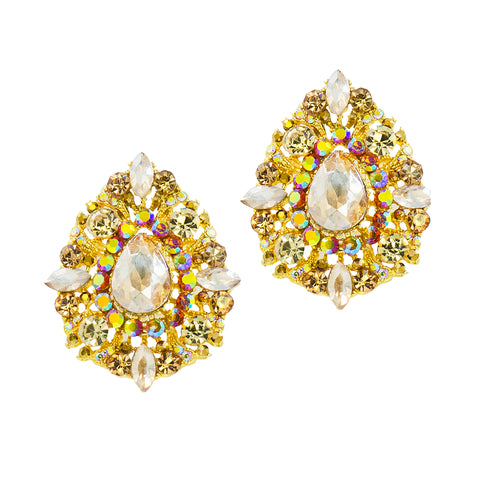 ORNATE OPULENCE STATEMENT EARRINGS (TOPAZ)