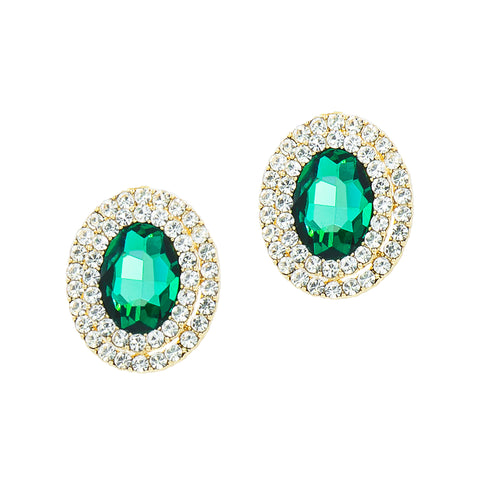 EMERALD DREAMS STATEMENT EARRINGS