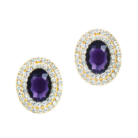 AMETHYST DREAMS STATEMENT EARRINGS