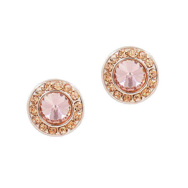 HOLIDAY GLAMOUR STUDS (PINK/ROSEGOLD)