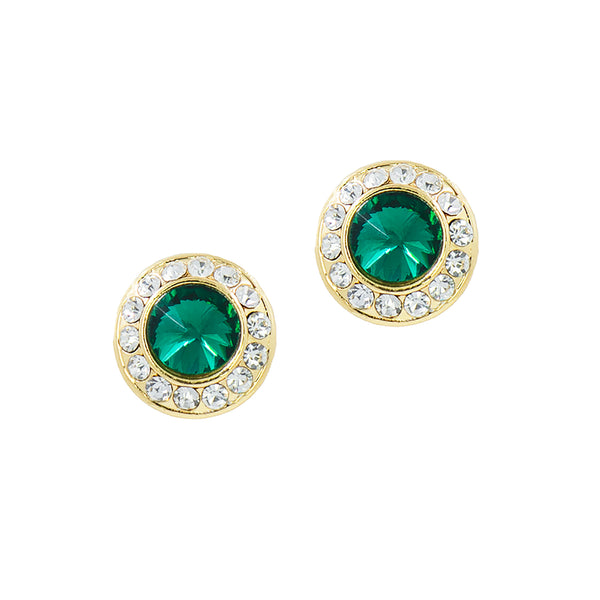 HOLIDAY GLAMOUR STUDS (EMERALD)