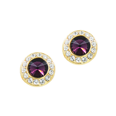 HOLIDAY GLAMOUR STUDS (AMETHYST)