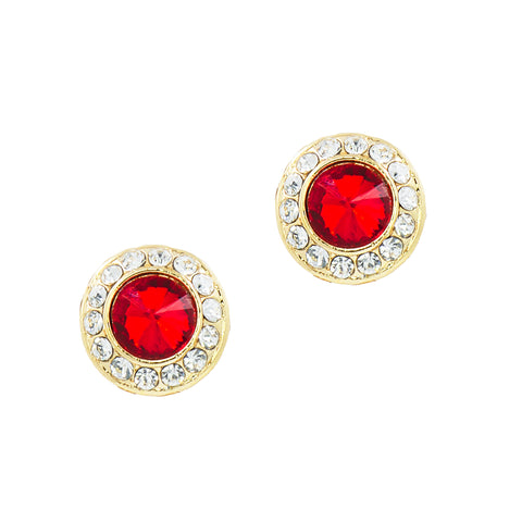 HOLIDAY GLAMOUR STUDS (RED)