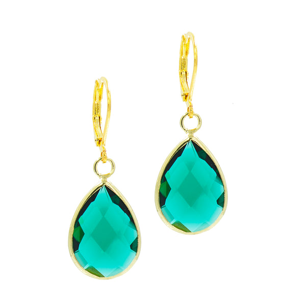 EMERALD EVE STATEMENT EARRINGS
