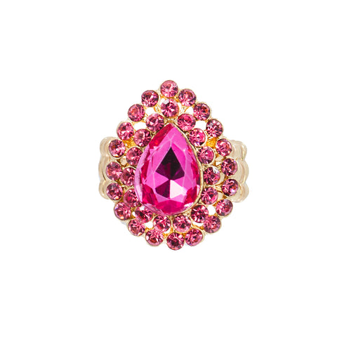 FIERY FUCHSIA STATEMENT RING
