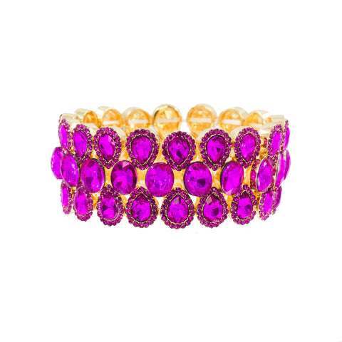 FORWARD FUCHSIA STATEMENT BRACELET