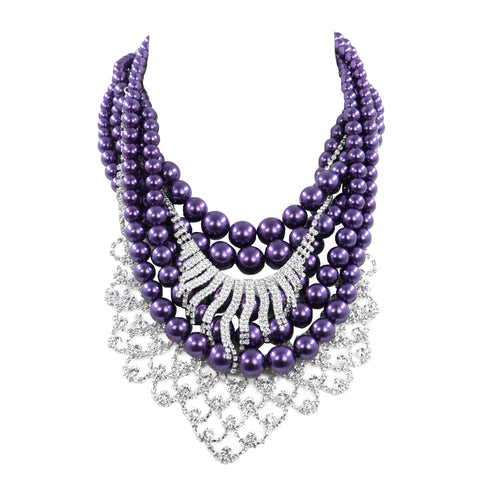LUX LAVENDER STATEMENT NECKLACE