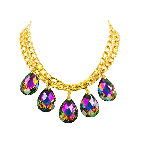 DRAPED IN HIGH GLAMOUR STATEMENT NECKLACE