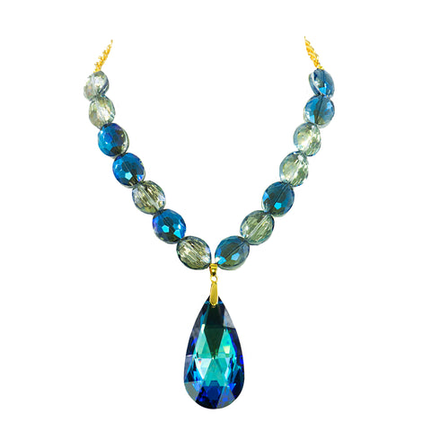 BLUE TWILIGHT STATEMENT NECKLACE