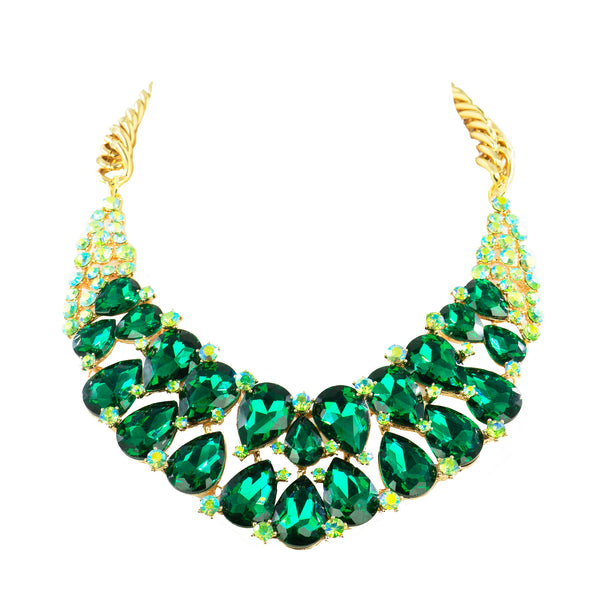 EMERALD EMPRESS STATEMENT NECKLACE