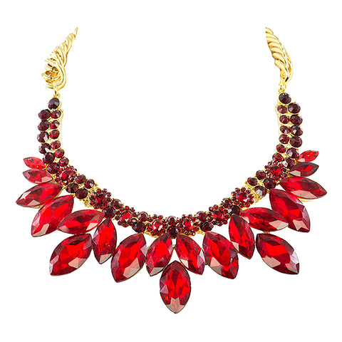 ROYAL RED STATEMENT NECKLACE