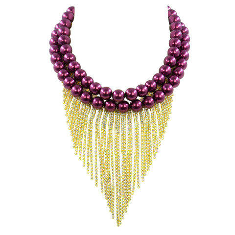 BURGUNDY INFLUENCE STATEMENT NECKLACE