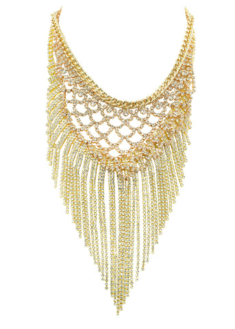 SUPREME GLAMOUR STATEMENT NECKLACE (GOLD)
