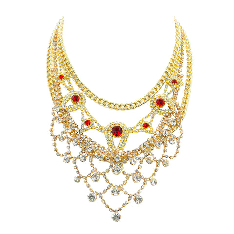 TOUCH OF FIRE STATEMENT NECKLACE