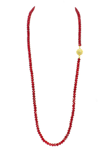 UNDERSTATED ELEGANCE STATEMENT NECKLACE (RED)