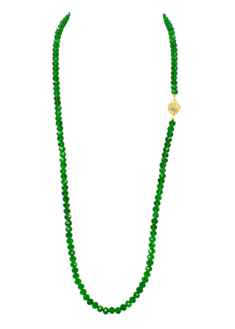 UNDERSTATED ELEGANCE STATEMENT NECKLACE (EMERALD)