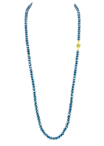 UNDERSTATED ELEGANCE STATEMENT NECKLACE (BLUE)