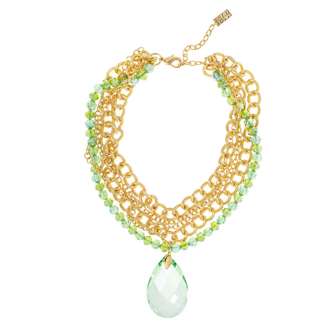 LUXE LIME STATEMENT NECKLACE