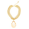RIVIERA GLAMOUR STATEMENT NECKLACE (PEACH)