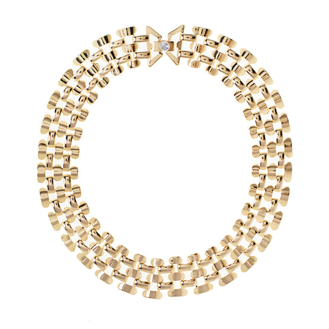 SUMMER GODDESS STATEMENT COLLAR (GOLD)
