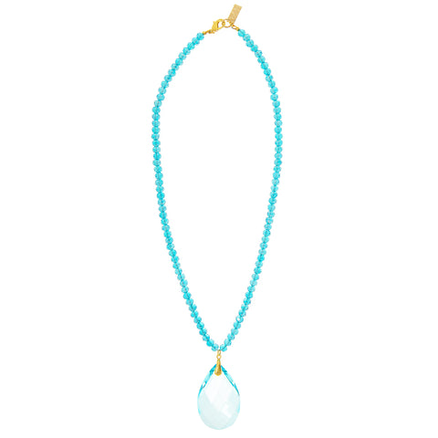 PASTEL DREAM STATEMENT NECKLACE (BLUE)