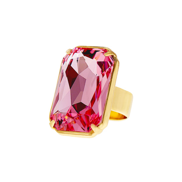 PINK SUNSET STATEMENT RING
