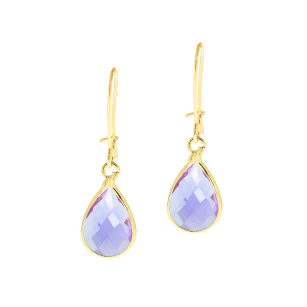 SPRING KISS MINI STATEMENT EARRINGS (LAVENDER)