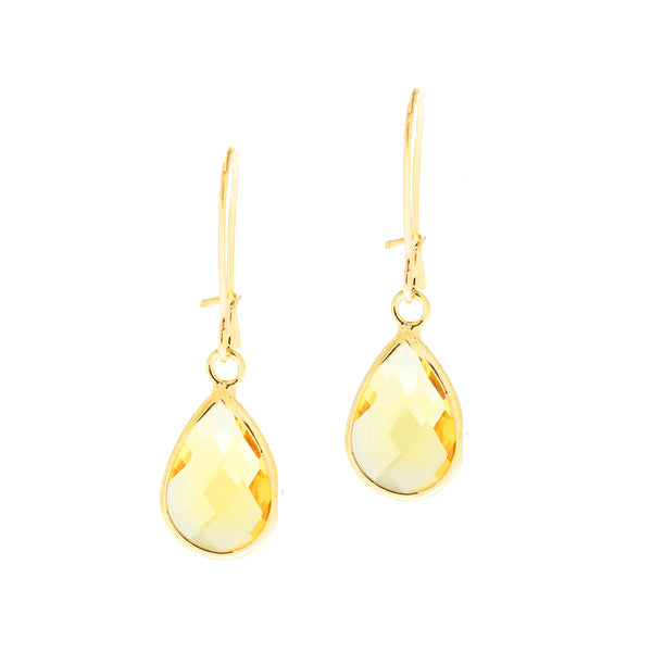 SPRING KISS MINI STATEMENT EARRINGS (YELLOW)